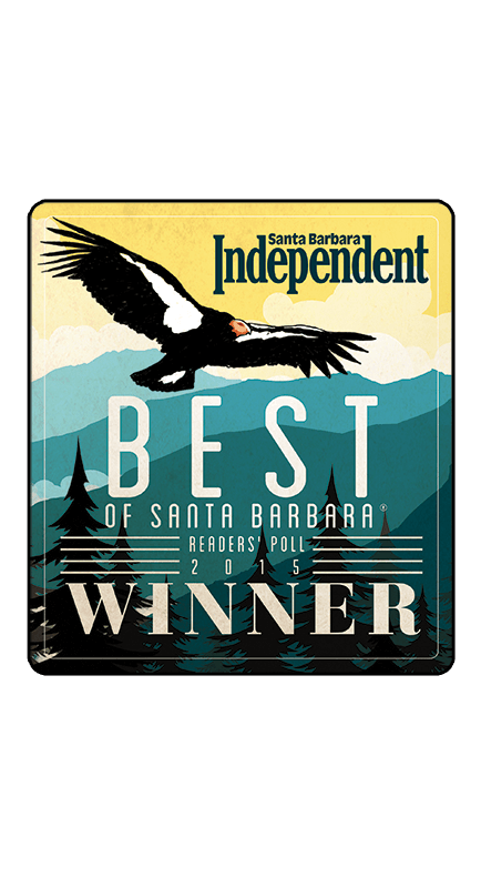 2015 Santa Barbara Independent Best of Santa Barbara Winner Badge